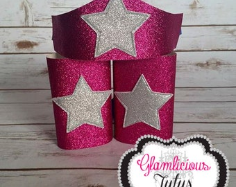 Pink Super Hero arm cuff & Tiara | Wonder Woman accessories | Space girl | Newborn-Adult listing