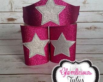 Pink Super Hero arm cuff & Tiara   Wonder Woman accessories   Space girl   Newborn-Adult listing