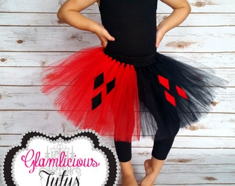 Haryley Quinn Tutu |  Newborn-Adult plus size listing, You choose size.