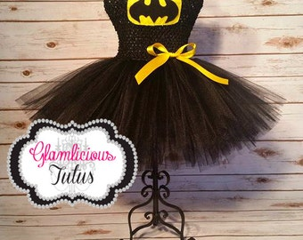 Bat inspired tutu dress| Super hero tutu dress| tutu newborn- size 10 child listing