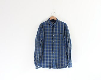 Plaid 90s Button Down Shirt