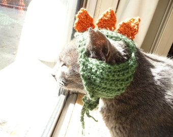 Cat Hat CROCHET PATTERN Dino Hat Dinosaur Hat Pet Halloween Costume for Pets Cat Costume for Cats Hat for Cats in Hats on Cats with Hats