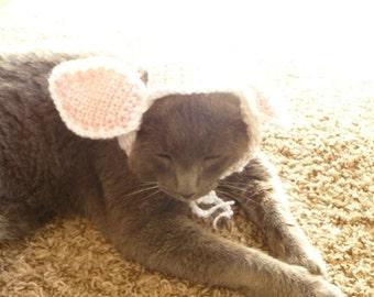 Cat Costume for a Cat CROCHET PATTERN Bunny Rabbit Pet Costume for a Pet Cat Hat for a Cat Gift for Cat Lover Halloween Pets Cat Cap Kawaii