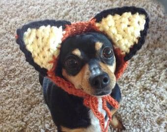 Dog Costume CROCHET PATTERN Fox Dog Hat Costume Pet Hat Pet Costume for Pet in Hat Pet Wearing Hat Pet Halloween Costume Pet Supplies Kawaii