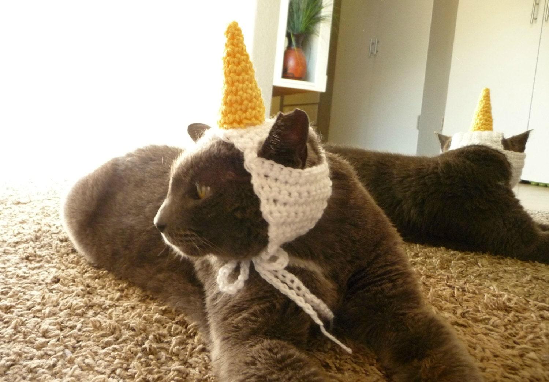 unicorn cat costume for cat hat cat clothes cat outfit pet. Black Bedroom Furniture Sets. Home Design Ideas