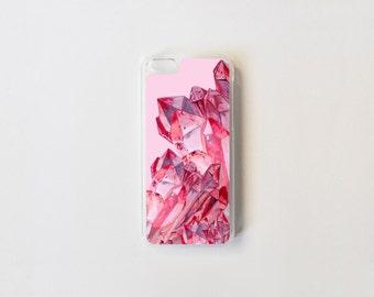iPhone 5c Case - Pink Quartz iPhone Case - Hard Plastic or Rubber