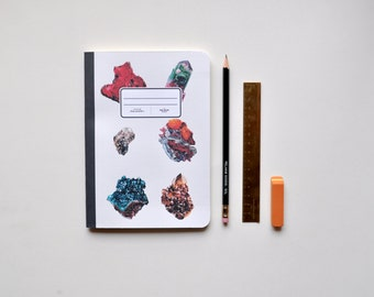 Mineral Illustration Notebook - Journal - Sketchbook - Blank pages - Lined pages