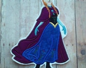 Frozen Anna Patch ~ Embroidered Applique ~ Iron On Princess ~ No Sew