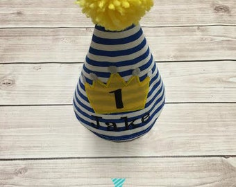 Prince Theme First Birthday Personalized Party Hat