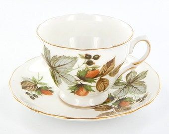 English Fine Bone China Tea Cup and Saucer Set by Royal Vale