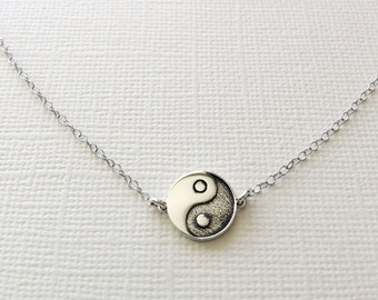 Yin Yang Harmony  Necklace in sterling silver, Yin Yang Jewelry, Yoga Jewelry, Symbolic Jewelry, Harmony Jewelry, Balance Necklace
