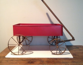 Little Red Wagon w/Iron Wheels