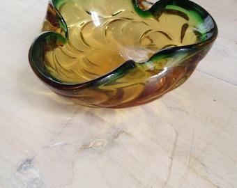 Tri-Color Murano Glass/Art Glass Dish?