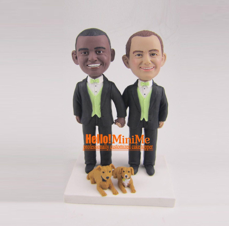 same sex cake topper unique bobblehead gay wedding cake topper. Black Bedroom Furniture Sets. Home Design Ideas