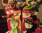 Wooden Snowman Family - Personalized
