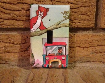 Thomas O'Malley Light Switch Cover, Aristocats Light Switch Plate, Aristocats Nursery, Aristocats Baby Shower, Aristocats Decoration, Cat9