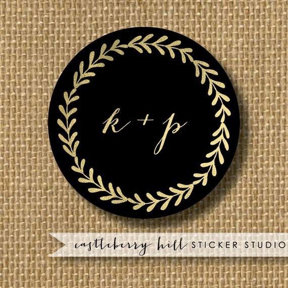 black and gold wedding stickers black and gold by