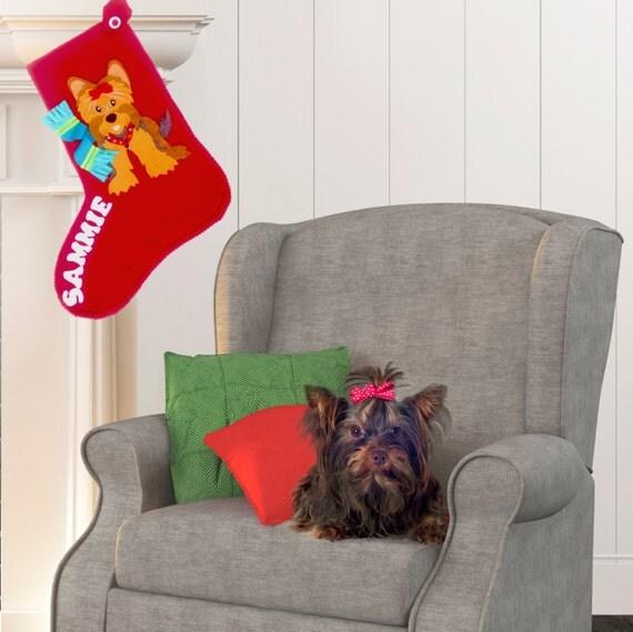 Items similar to dog christmas stocking personalized for Personalized dog christmas stocking