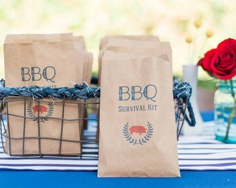25 BBQ Survival Kit Pouches
