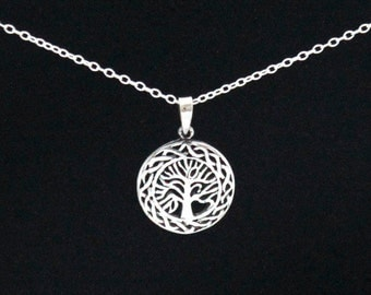 Celtic Rim Tree of Life Sterling Necklace