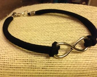 Silver&Black Infinity Symbol Bracelet