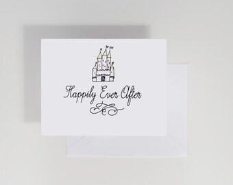 Wedding Card, Fairy Tale, Castle