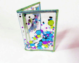 Glitter Wallet Business Card Holder Womens Wallet Card Organizer