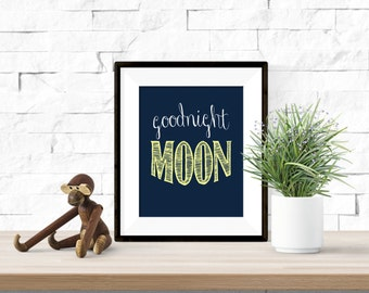 Goodnight Moon Printable Nursery Artwork - 8x10 Digital Download