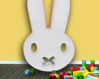 Kids Lamp, Bunny Lamp, Rabbit Lamp, Bunny Marquee Light, Bunny Light, Marquee Light