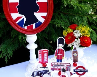 UK London Inspired Birthday Party Printables Supplies & DIY Decorations
