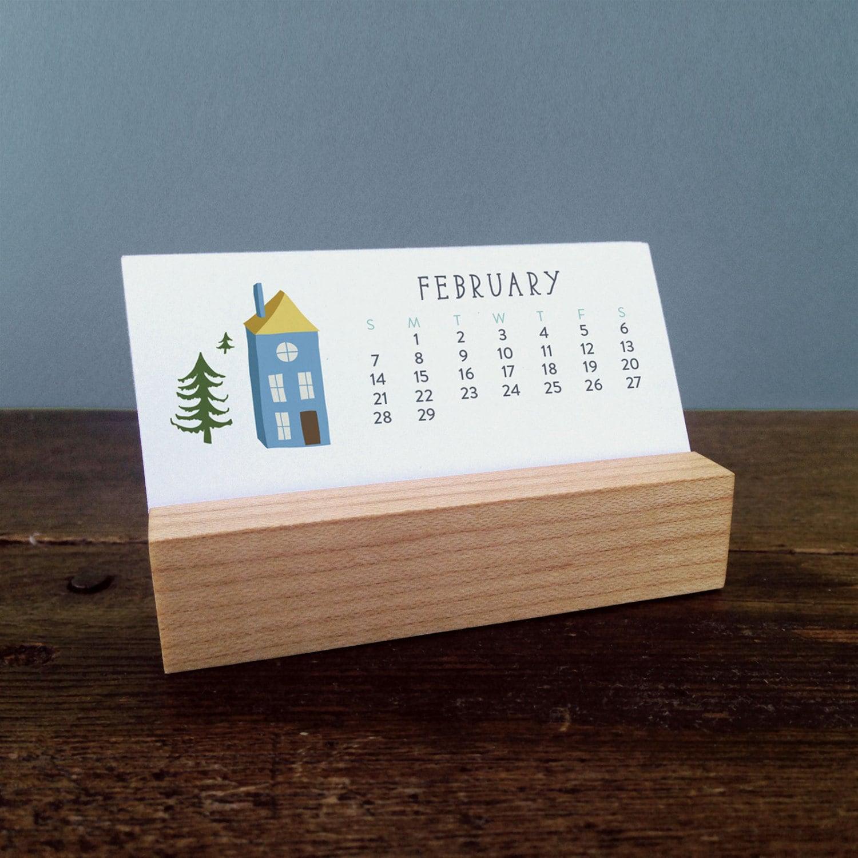 Mini Desk Calendar With Wood Stand 2016 Calendar By