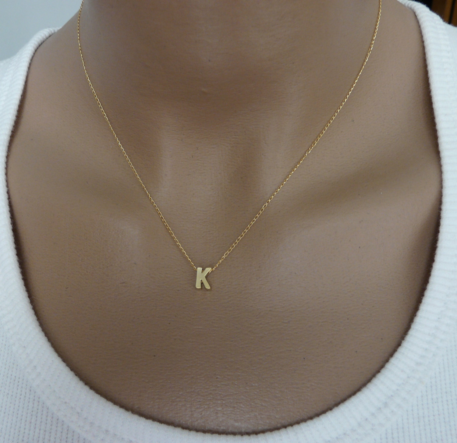 Choker Necklace Etsy: Initial Necklace Dainty Initial Necklace Initial Jewelry