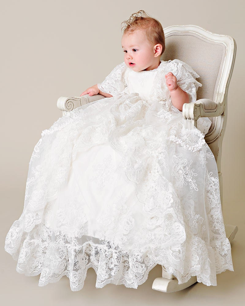 Christening Gowns From Wedding Dresses: Royal Christening Gown Unisex Baby Gown Unisex By