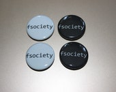 fsociety buttons - Mr.Robot