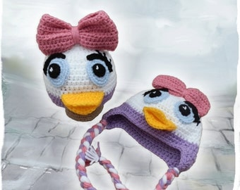 Daisy Duck Hat, with or without earflaps