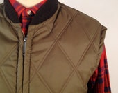 Vintage 70s Reversible Hunting Vest by JC Penney Size Extra Large XL