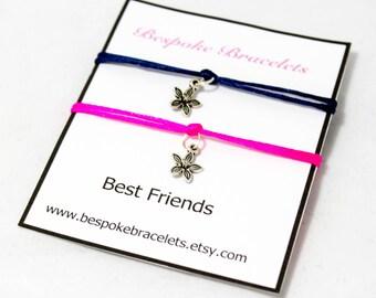 Best friend bracelet | Flower Bracelet | Charm bracelet | Friendship bracelet | Bracelet gift | Best friend gift Bracelet | Layer bracelet