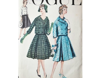 Vogue sewing pattern, vogue special design 4903, bust 34 inches, skirt and jacket suit, 50s vintage pattern