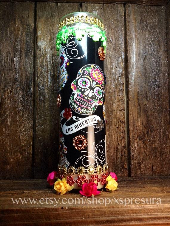 Day-of-the-Dead Candle / Dia de los Muertos Vela / by ...