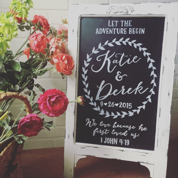 Wedding Chalkboard Easel Chalkboard Sign Wedding Sandwich