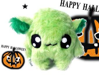 Fluse Kawaii Plush cute  Monster stuffed animal green
