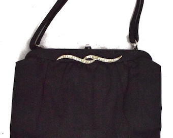 Vintage 50s L and M Lowy & Mund Spot Lite Purse Evening Handbag