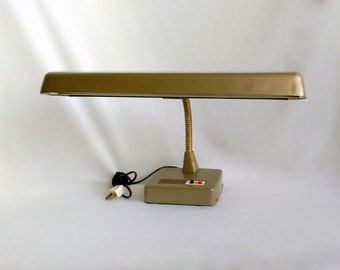 Vintage Desk Lamp, Marks Gooseneck Lamp, Working Industrial Lamp,  Industrial Decor, Metal Lamp, Fluorescent Light Bulb Included!