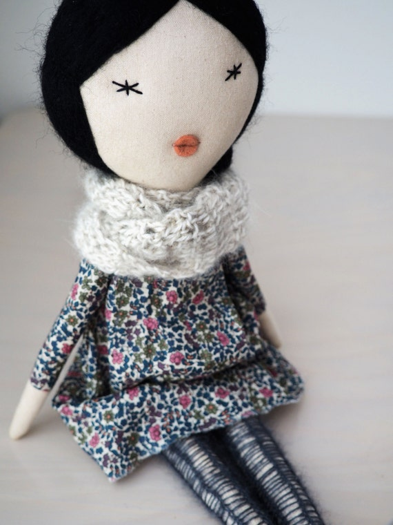 Handmade doll, rag doll, unique gift/ Aiko