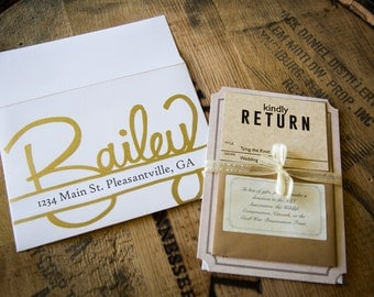 Custom Hand Lettering Envelopes