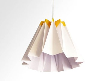 Jelly / Origami Paper LampShade- Yellow and White