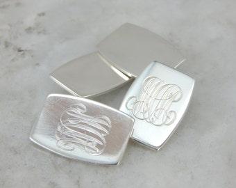 "Vintage Sterling Silver Cufflinks, with ""MCM"" Monogram F50MMY-N"
