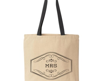 Mrs. Tote Bag | Future Mrs. Gift | Bride Tote Bag | Bridal Shower Gift | Canvas Tote Bag