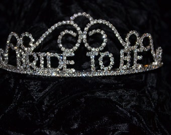Bride-To-Be #60542 Rhinestone Tiara-Swirl