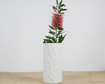 German porcelain vase // Op Art Porcelain Vase //West german vase // White Thomas Porcelain. 70s
